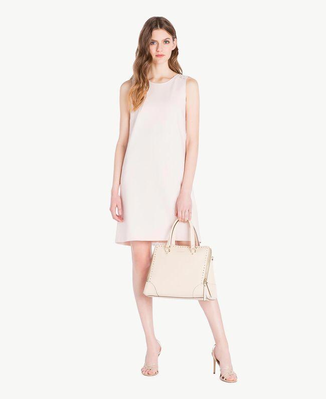 Lace dress Pale Ecru Woman PS828T-05