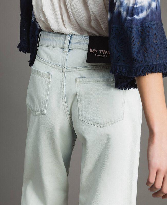 Cotton denim wide leg jeans Denim Blue Woman 191MT2432-04