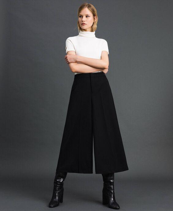Pantalon cropped en laine