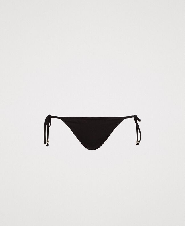 Bas de bikini brésilien avec lacets Noir Femme 191LMMB77-01