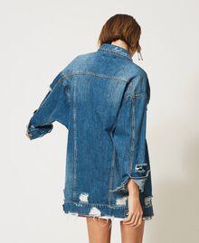 Oversized denim jacket Light Denim Woman 211MT2571-04