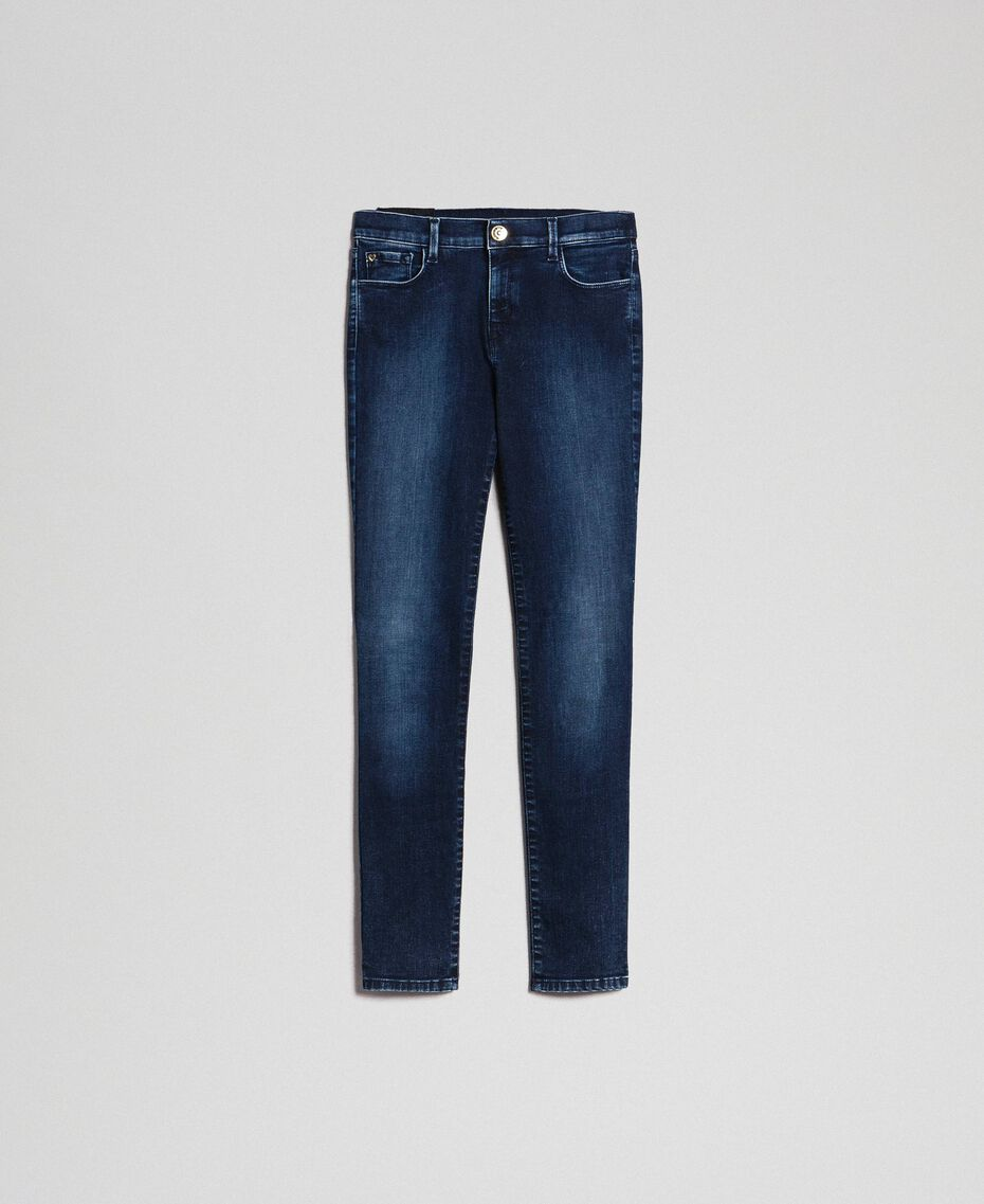 Push up jeans with five pockets Denim Blue Woman 192MT220H-0S