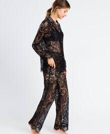 Pantaloni in pizzo smerlato Nero Donna IA8CRR-02