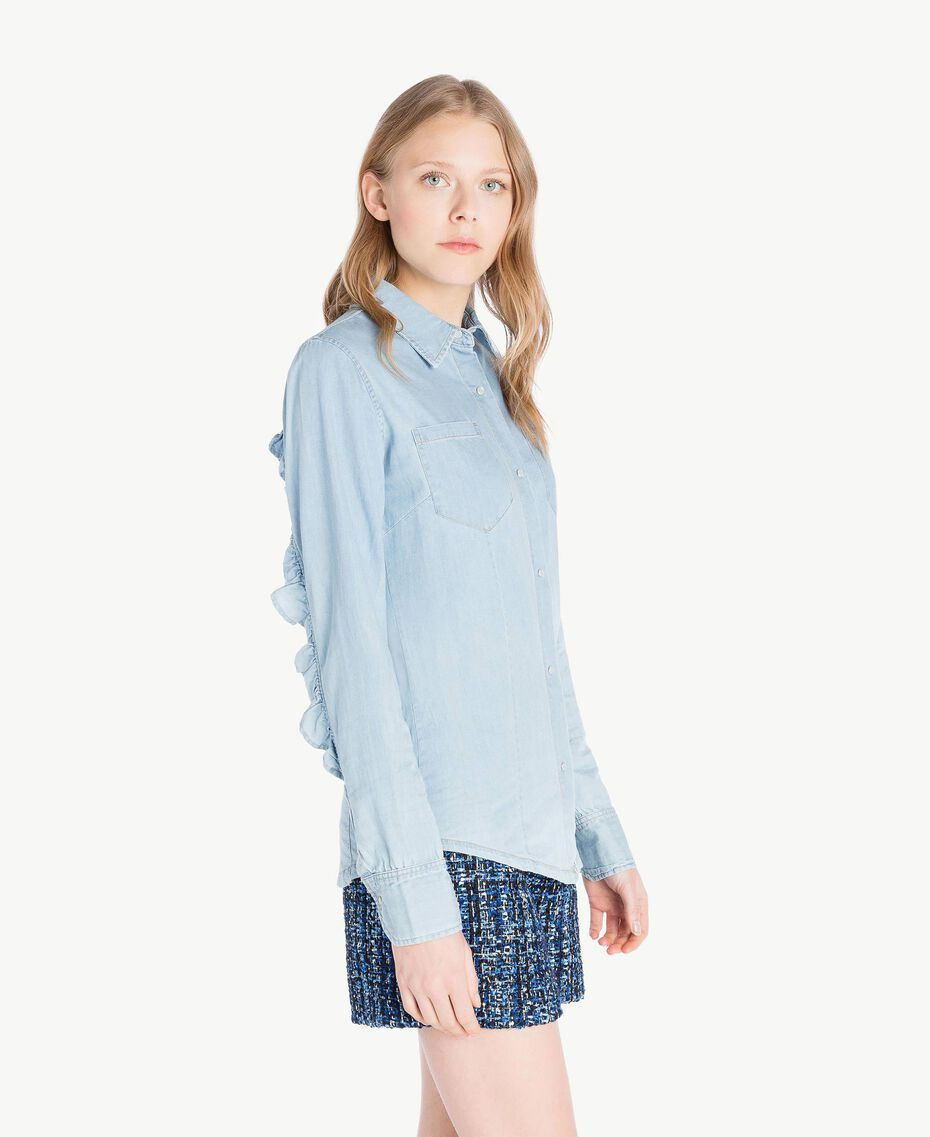 Denim shirt Denim Blue Woman JS82U1-02