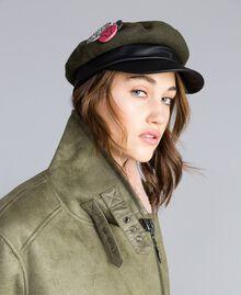 Casquette en drap et similicuir Vert Alpin Femme VA8P21-0S