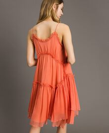 """Robe en soie avec volants Rouge """"Pomme Sauvage"""" Femme 191TT2422-03"""