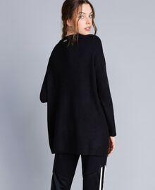 Объемная трикотажная кофта из смешанной шерсти Черный женщина IA86HH-03