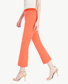 Poplin flared trousers Orange Woman TS8212-02