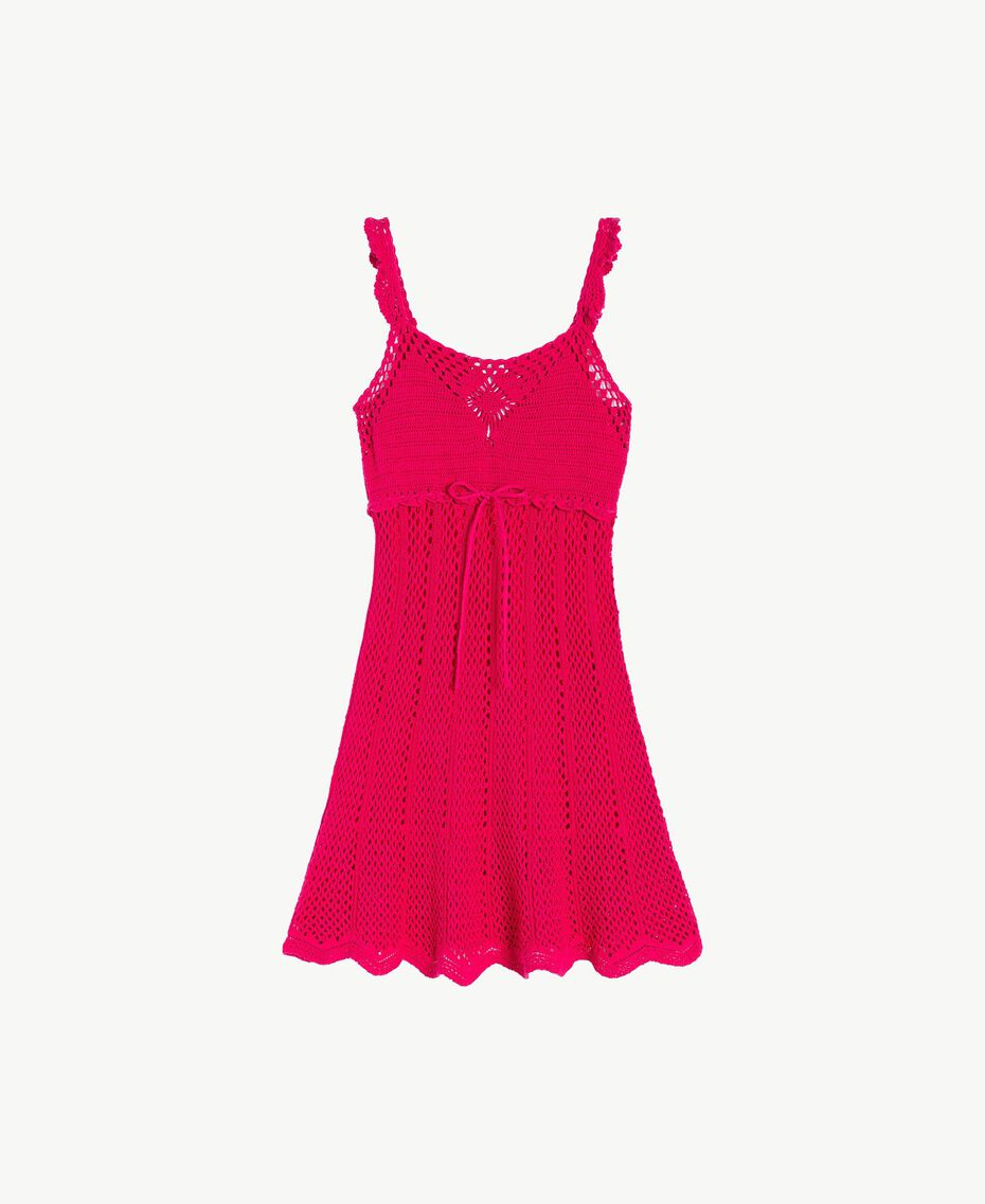 "Crochet dress ""Voluptuous"" Pink Woman MS8HBB-01"