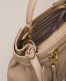Large faux leather New Cécile bag Nougat Beige Woman 201TO8180-05