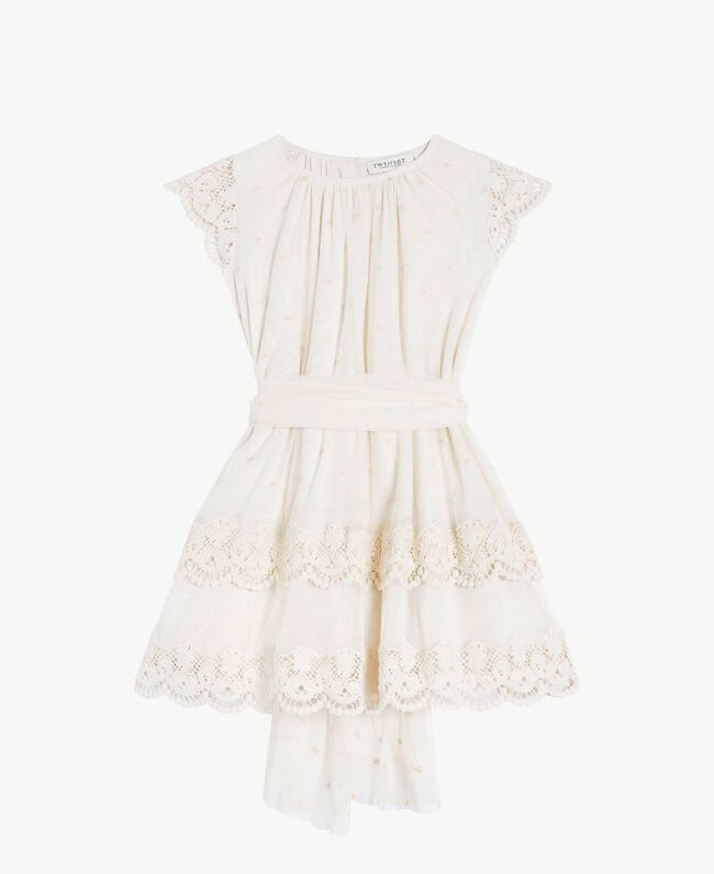 Lace dress Pale Cream Child GS8LAN-01
