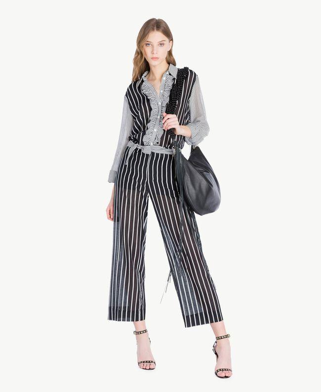 Printed trousers Patch Stripes Print Woman TS82ZN-05