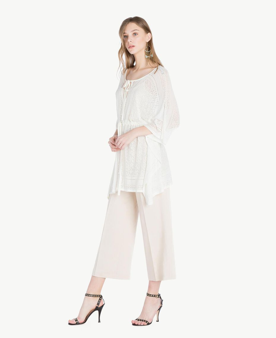 Viscose poncho Mother Of Pearl Woman TS83AD-02