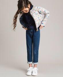 Satin-Trainingsanzug und Pullover im Denim-Look Indigo Kind 191GJ2382-0T