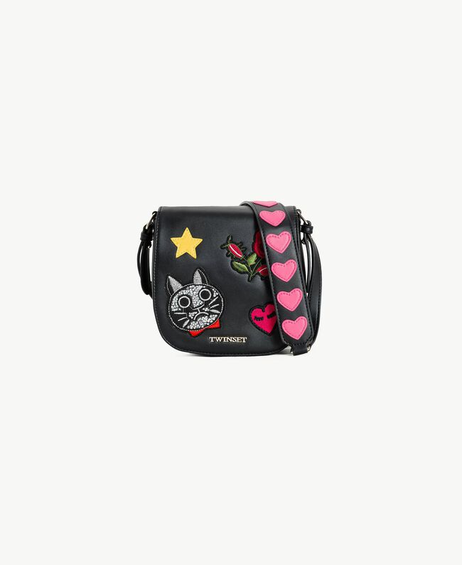 Patch shoulder bag Black Child GS87BG-01