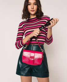 """Small Rebel bag with logo shoulder strap """"Jazz"""" Pink Woman 201TO823U-0S"""