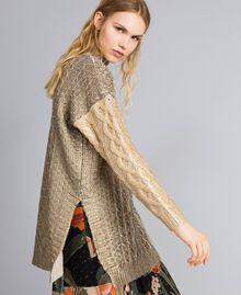Maxi maglia laminata Bicolor Bronzo / Oro Donna TA831C-02