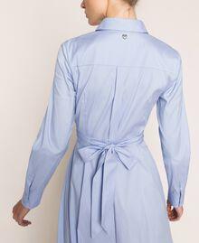 Long poplin shirt dress Sky Blue Woman 201MP218C-04