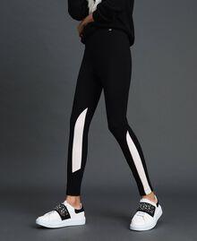"Leggings color block Nero / Bianco ""Vaniglia"" Donna 192MT2270-03"