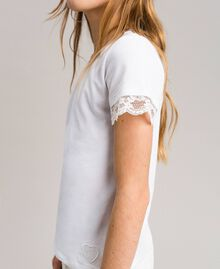 Jersey T-shirt with lace White Child 191GJ2180-04