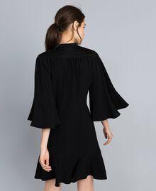 Robe en envers satin Noir Femme TA824C-03