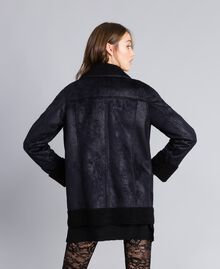 Faux shearling jacket Black / Black Woman JA82G1-04