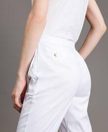 Leggings en popeline Crème White Femme 191MP2214-04