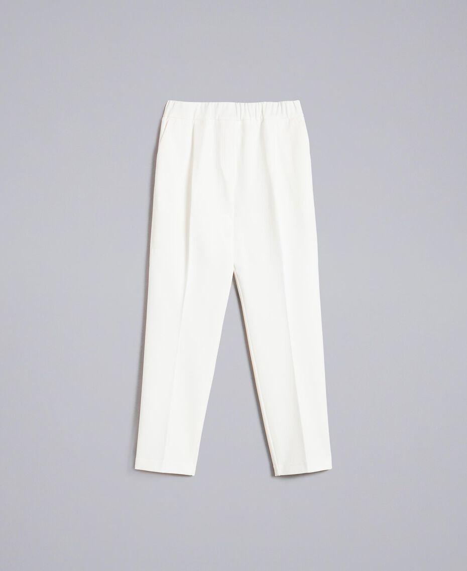 Pantalon de jogging en point de Milan Blanc Neige Femme PA821V-0S
