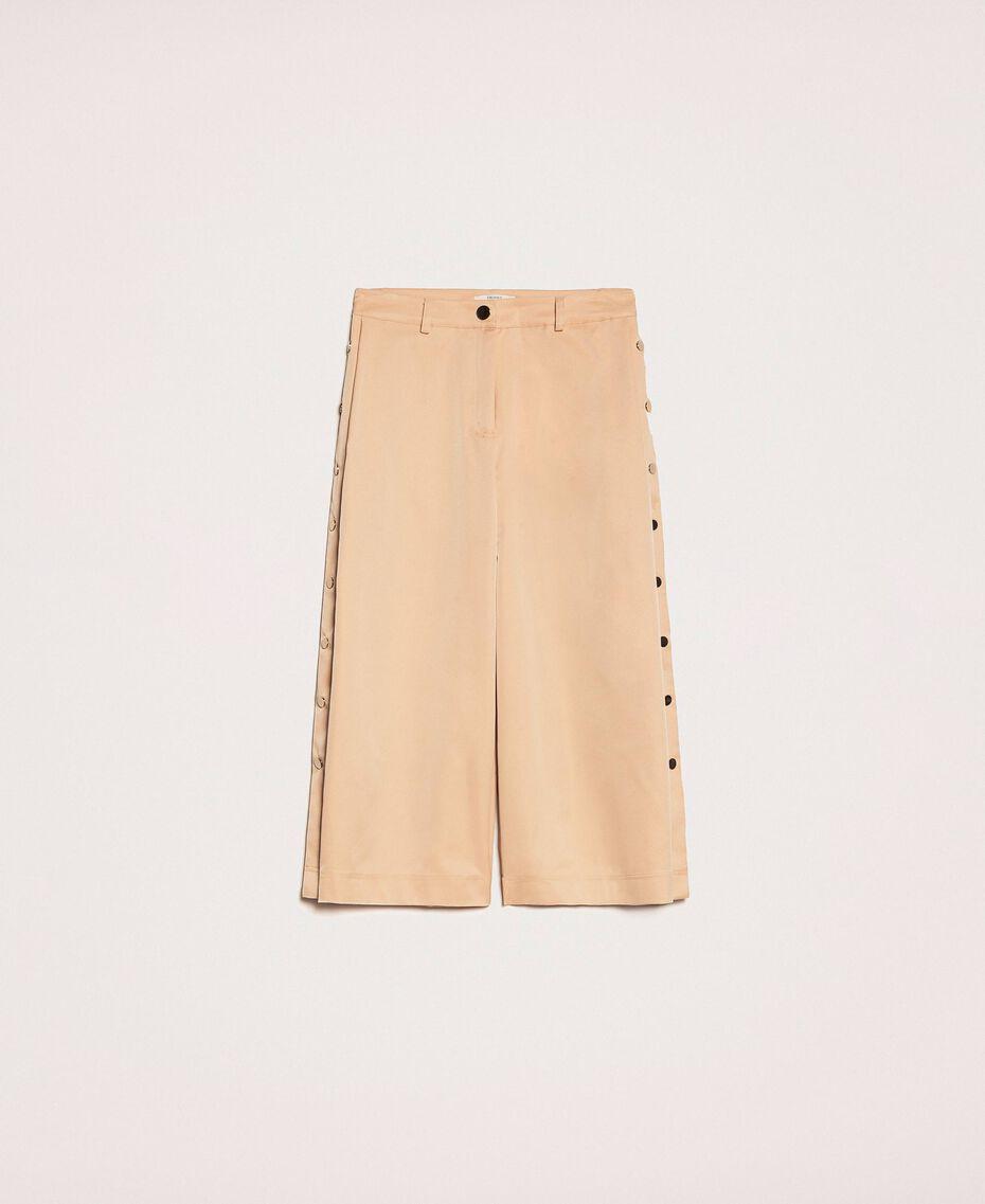Pantalon cropped avec boutons Beige «Golden Powder» Femme 201LL2CPP-0S