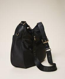 Technical satin hobo bag Black Woman 202TD8080-03