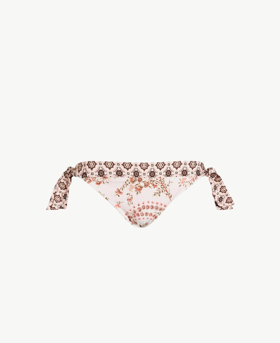 Printed Brazilian briefs Vegas Pink Patch Print Woman BS8A77-01