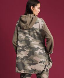 Maxi sweatshirt with camouflage details Military Gold / Camouflage Print Woman 192TP2040-04
