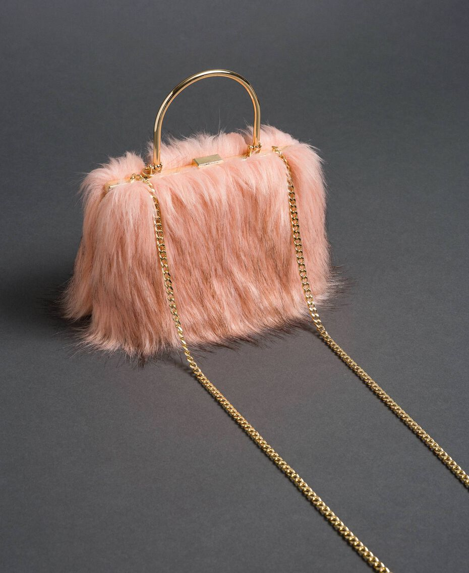 Bolso bandolera de piel sintética Rosa «Peach» Mujer 192LL7ZNN-03