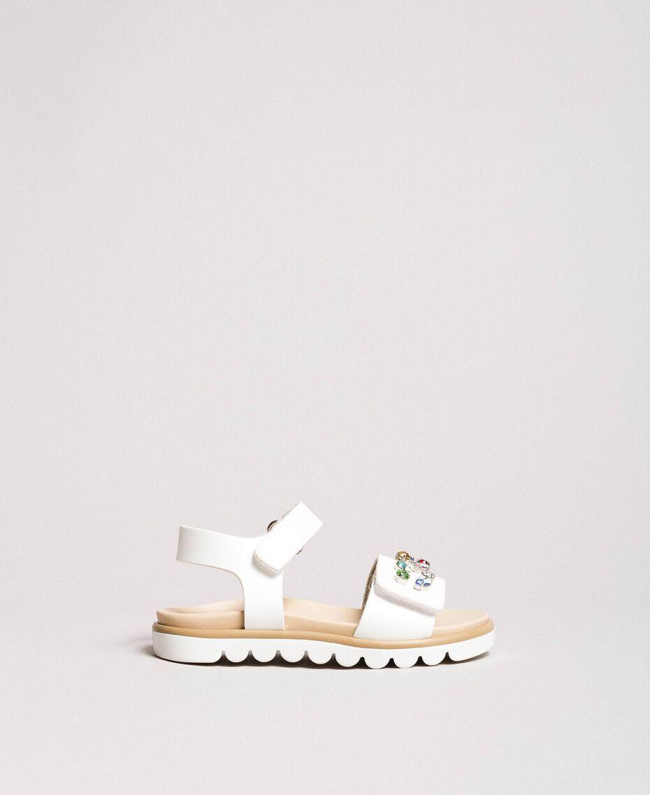 Sandals with multicolour stones White Child 191GCB150-0S
