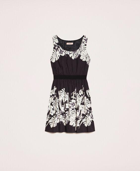 Poplin floral dress