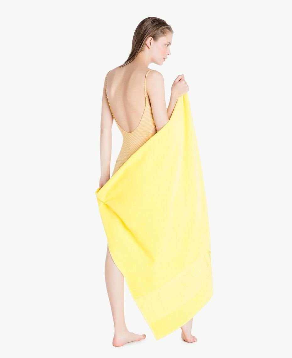 Cotton beach towel Yellow Fizz Woman MS8ZWW-05