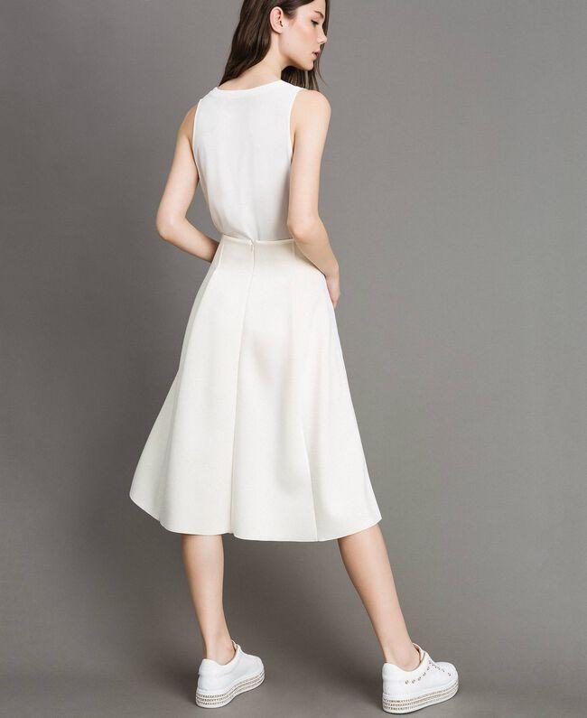 """Full scuba skirt """"Silk"""" White Woman 191TP2065-03"""
