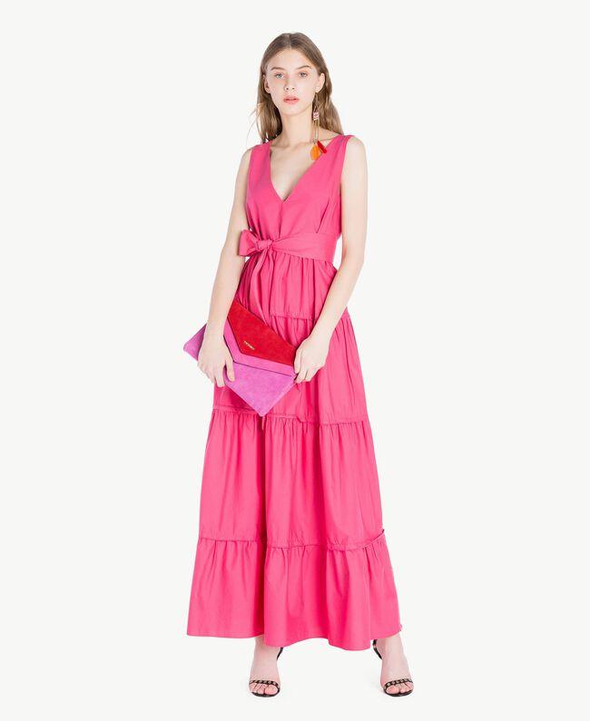 TWINSET Umhängetasche mit zwei Patten Multicolor Provocateur Pink / Fuchsia / Rubin Frau OS8TDP-05