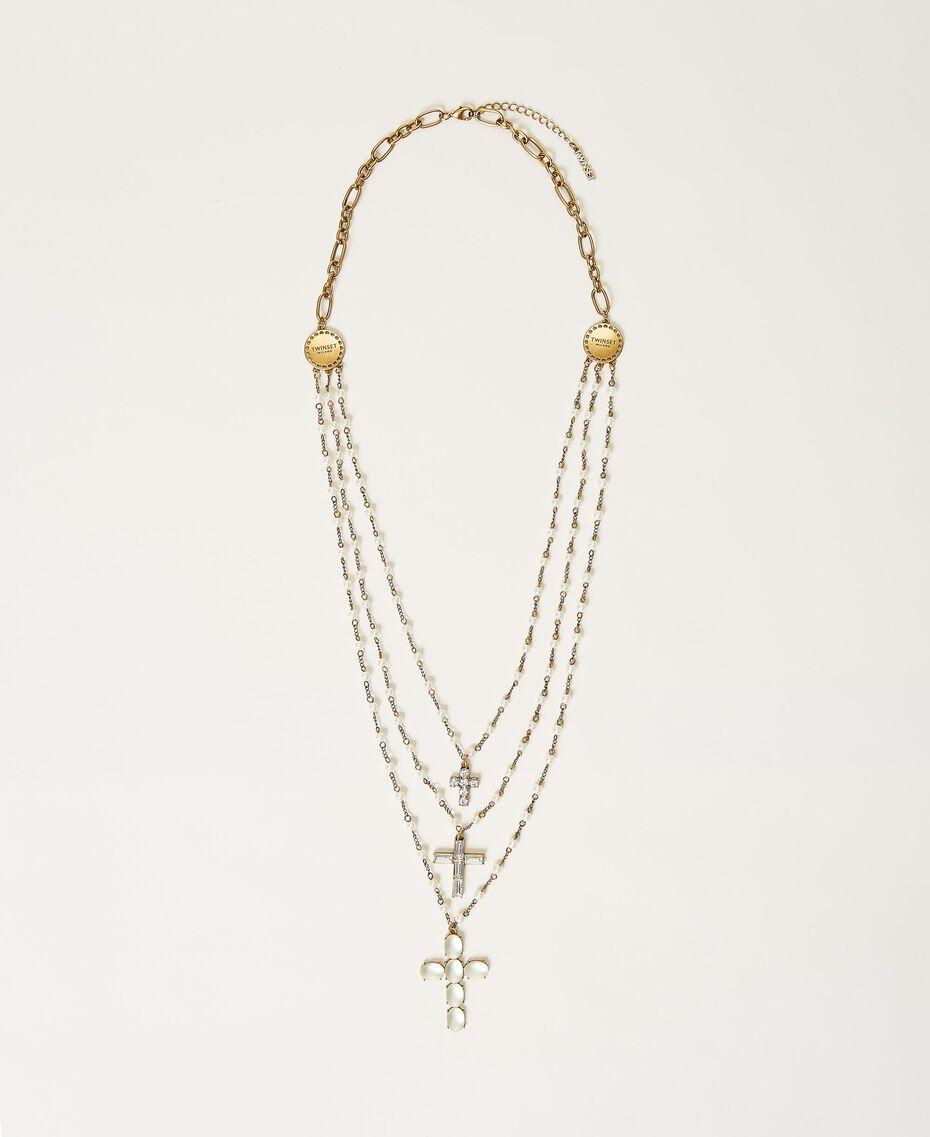 Sautoir avec croix Or «Laiton Vieilli Cuivré» Femme 211TO5011-01
