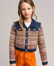 Bouclé jacket with inserts Bouclé Jacquard / Dark Denim Child 191GJ2022-0S