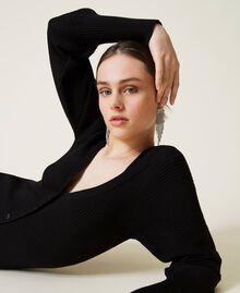 Robe «Garnet» avec manches ballon Noir Femme 212AP3032-05