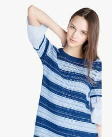 "Crochet dress Multicolour ""Navy Peony"" Blue / Placid Blue/ ""Rope"" Beige Woman SS83AB-04"