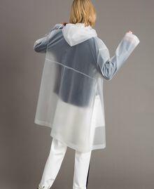 Imperméable avec logo Blanc Soie Opaque Femme 191TP2030-03