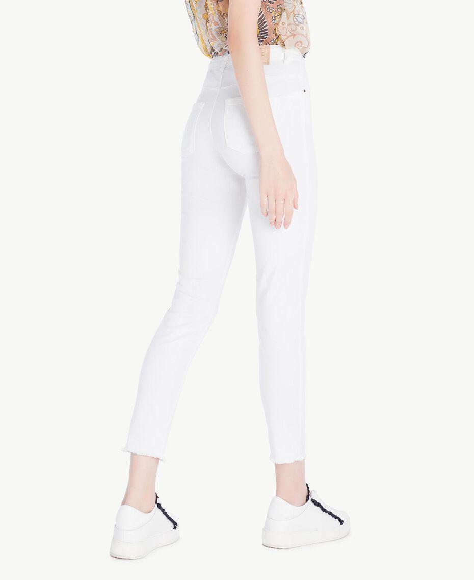 Pantalon skinny Blanc Femme SS82NA-03