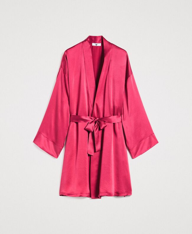 Satin dressing gown Rose Blossom Woman 191LL2DEE-01