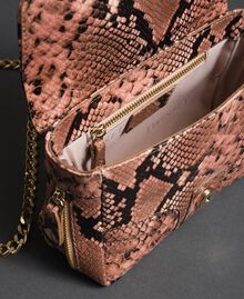 "Small Rebel shoulder bag with python print ""Anthracite"" Grey Python Print Woman 192TA7231-05"