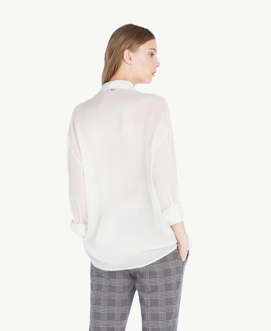Georgette shirt Light Ivory Woman PS823F-03