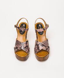 Animal print faux leather clog sandals Wild Rose Python Print Woman 201MCT01C-05