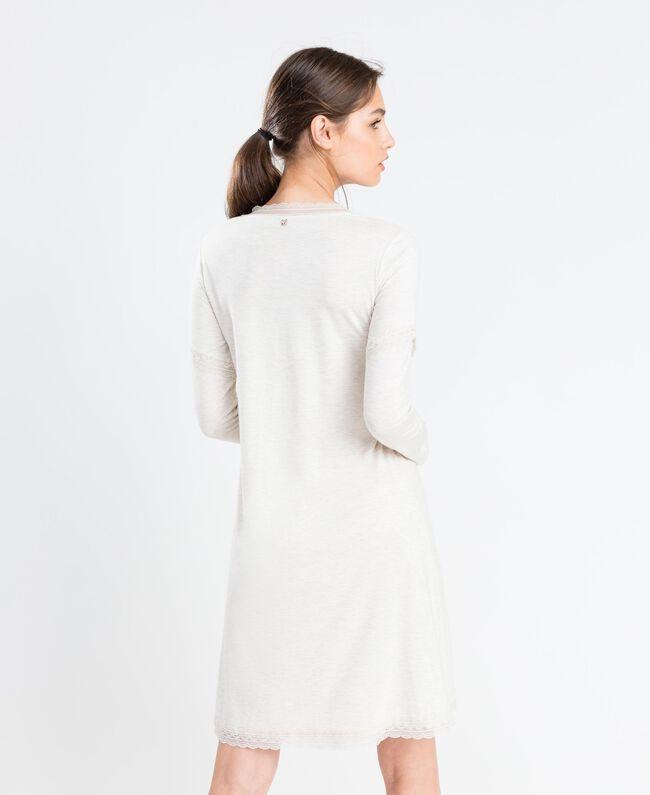 Nachthemd aus Jersey Elfenbeinmelange Frau LA8BEE-03