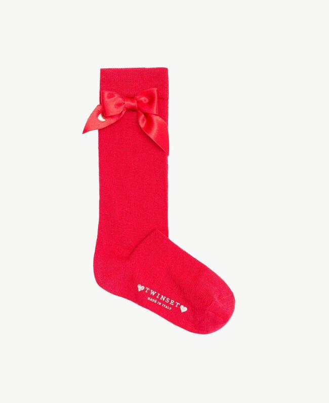 Bow socks Pomegranate Red Child GS8ACA-01